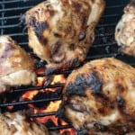 Marinated chicken on the grill